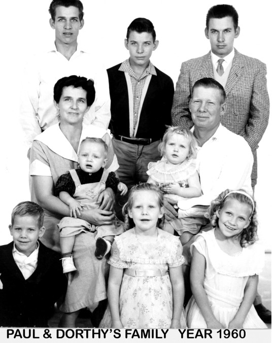 paul and dot family 1960
